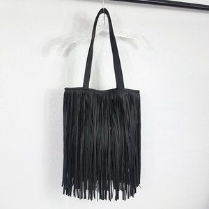 Handbags - Women's Black Fringe Bag Purse Shoulder Bag